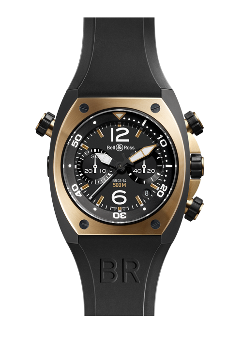 Bell & Ross Marine Chronograph Pink Gold BR 02-94