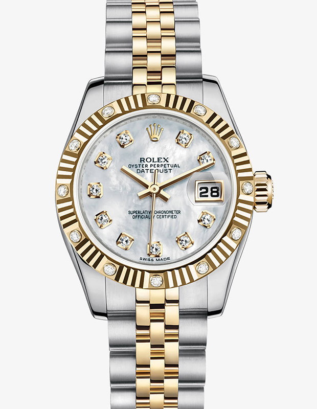 Rolex Datejust Two Tone and Diamonds